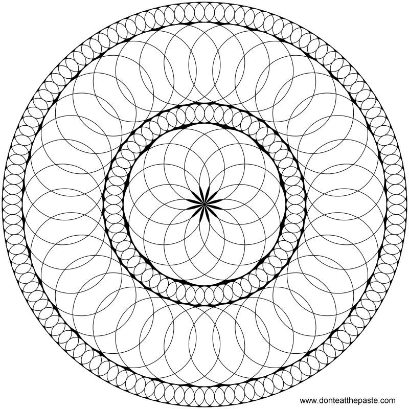 Circles mandala to print and color- also available in a larger