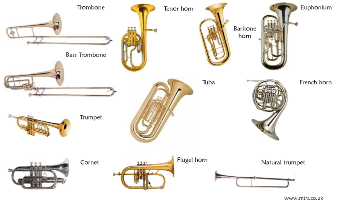 Image result for brass instruments names  Music Helen