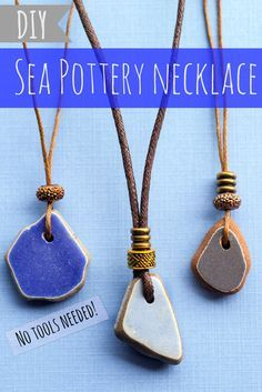 Photo of DIY Sea Pottery Necklace with Adjustable Sliding Cord   Intimate Weddings – Small Wedding Blog – DIY Wedding Ideas for Small and Intimate Weddings – Real Small Weddings