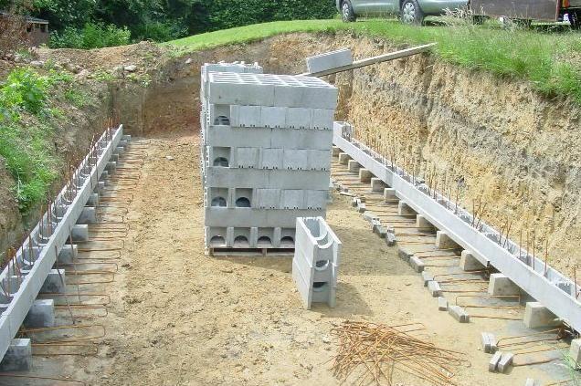 Murs armés étape par étape Béton de la Lomme piscine