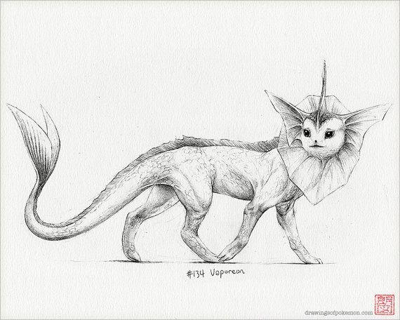 Flareon 8 X 10 Print Pokemon Drawing Art Artwork Gaming