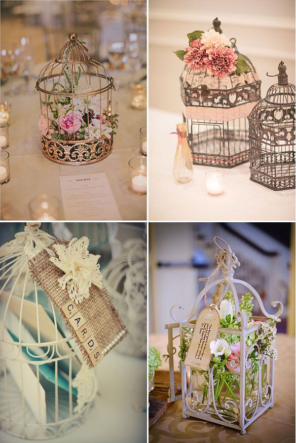 jaulas para decorar tu boda | shabby chic | wedding birds, wedding