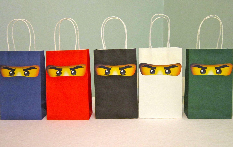 ninjago favor bags. $10.00, via Etsy.