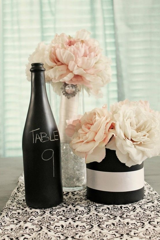 Chalkboard Vases White Days Decor Pinterest Chalkboards And