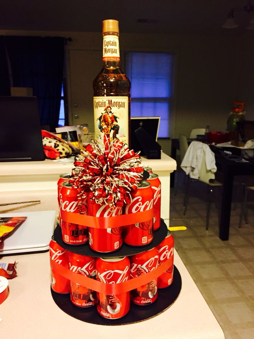 Captain And Coke Can Cake 21st Bday Alcohol Cake