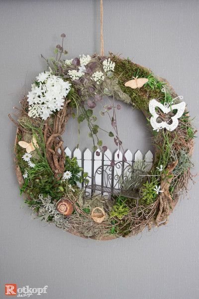 Photo of Door wreaths – door wreath summer 2 – a unique product by Rotkopf-design at DaW …