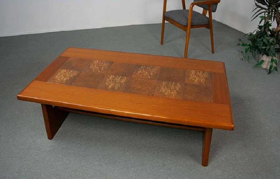 Danish Modern Teak Coffee Table With Tile Inlay ~ http ...