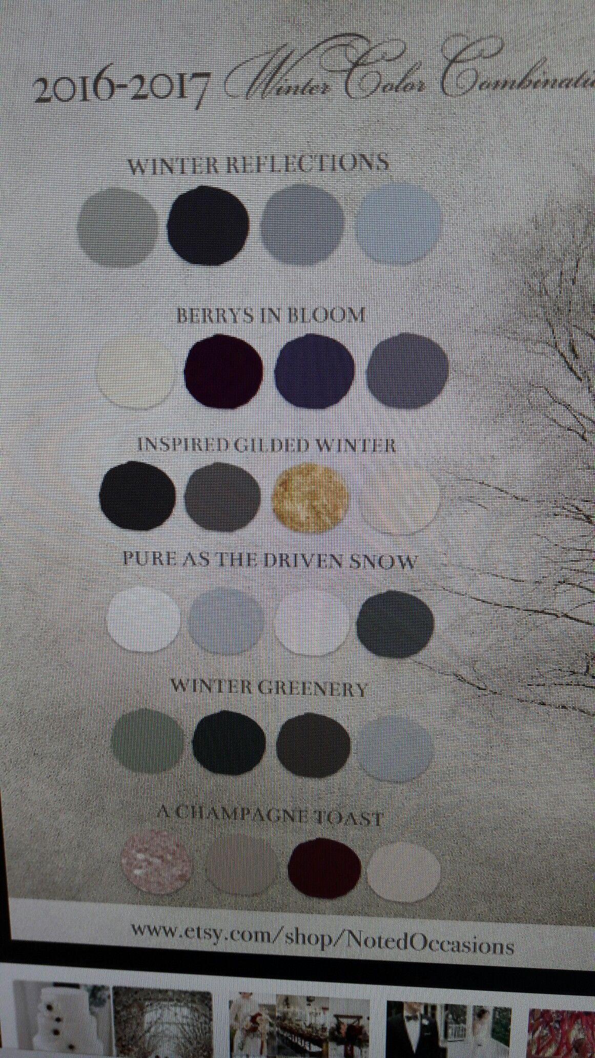 The color palette Estelle