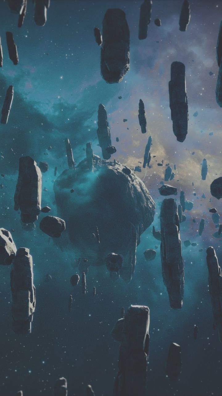 Asteroid Space Fantasy Artwork 720x1280 Wallpaper