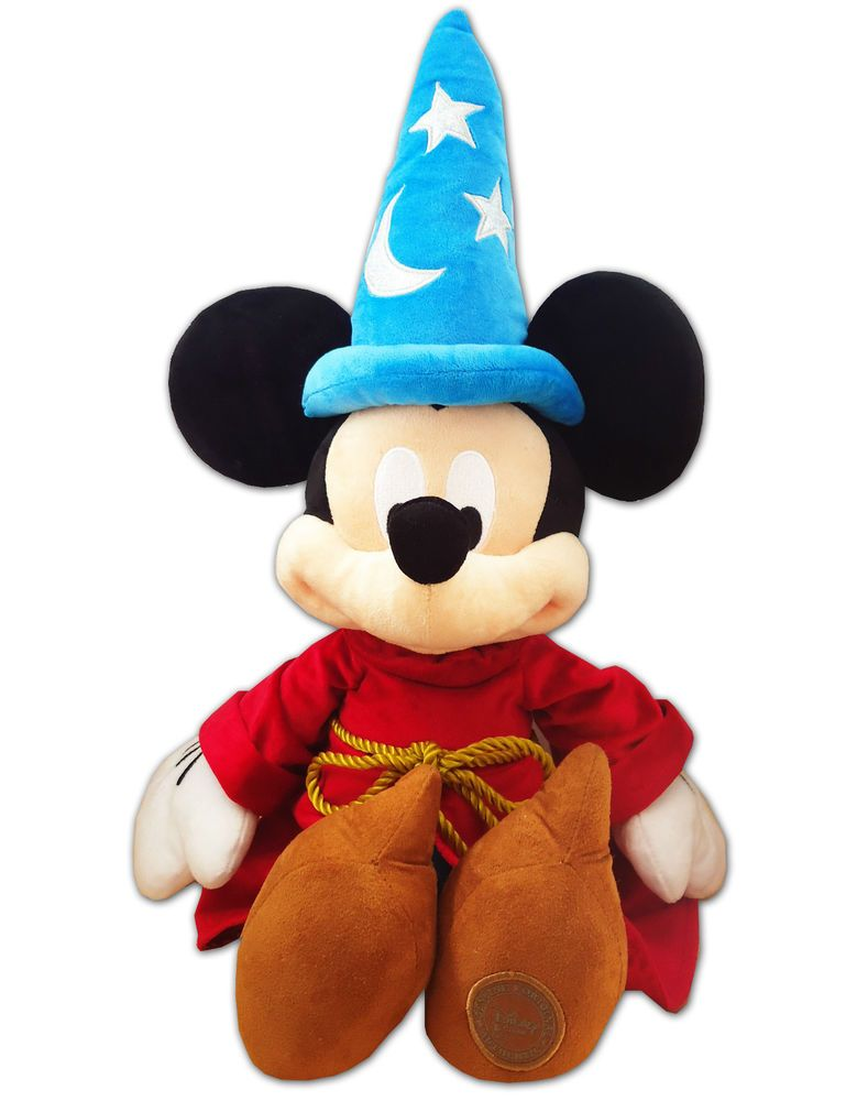 Mickey Stuffed Doll Toy Hat Plush Store Wizard Disney Fantasia Mouse AL54Rj