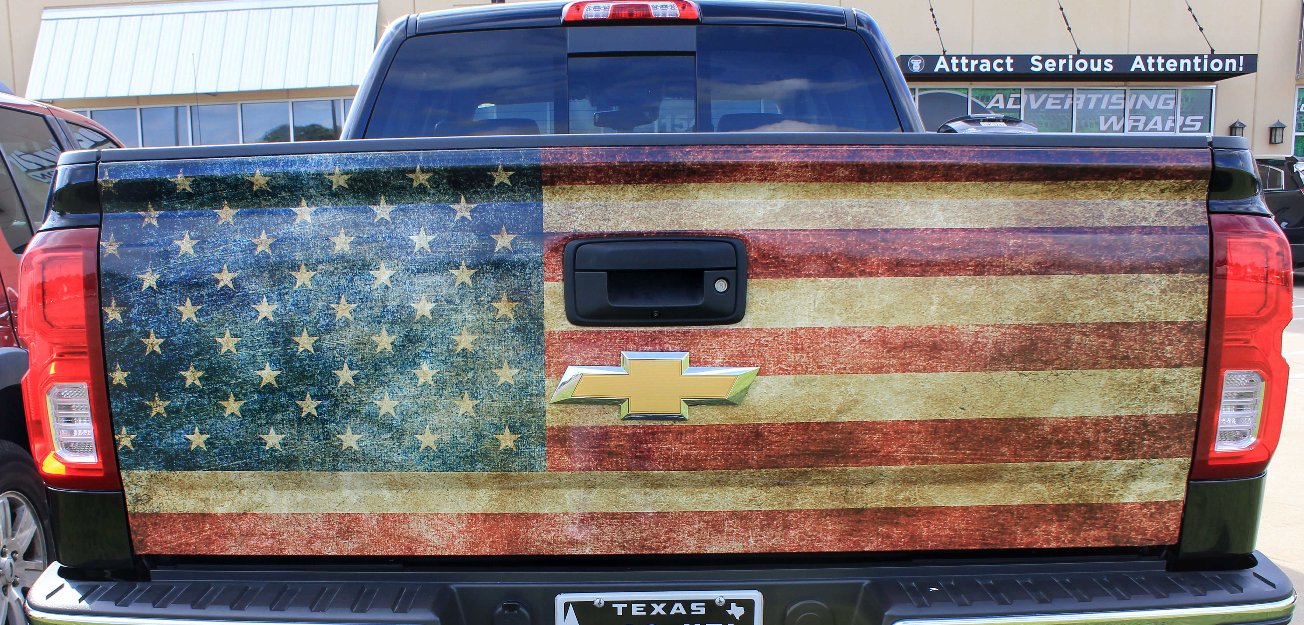 Rustic American Flag Tailgate Wrap Ideas Custom Flag Decal American Flag Truck Vinyl Wrap Truck Wraps Graphics Custom Cars American Flag Decal