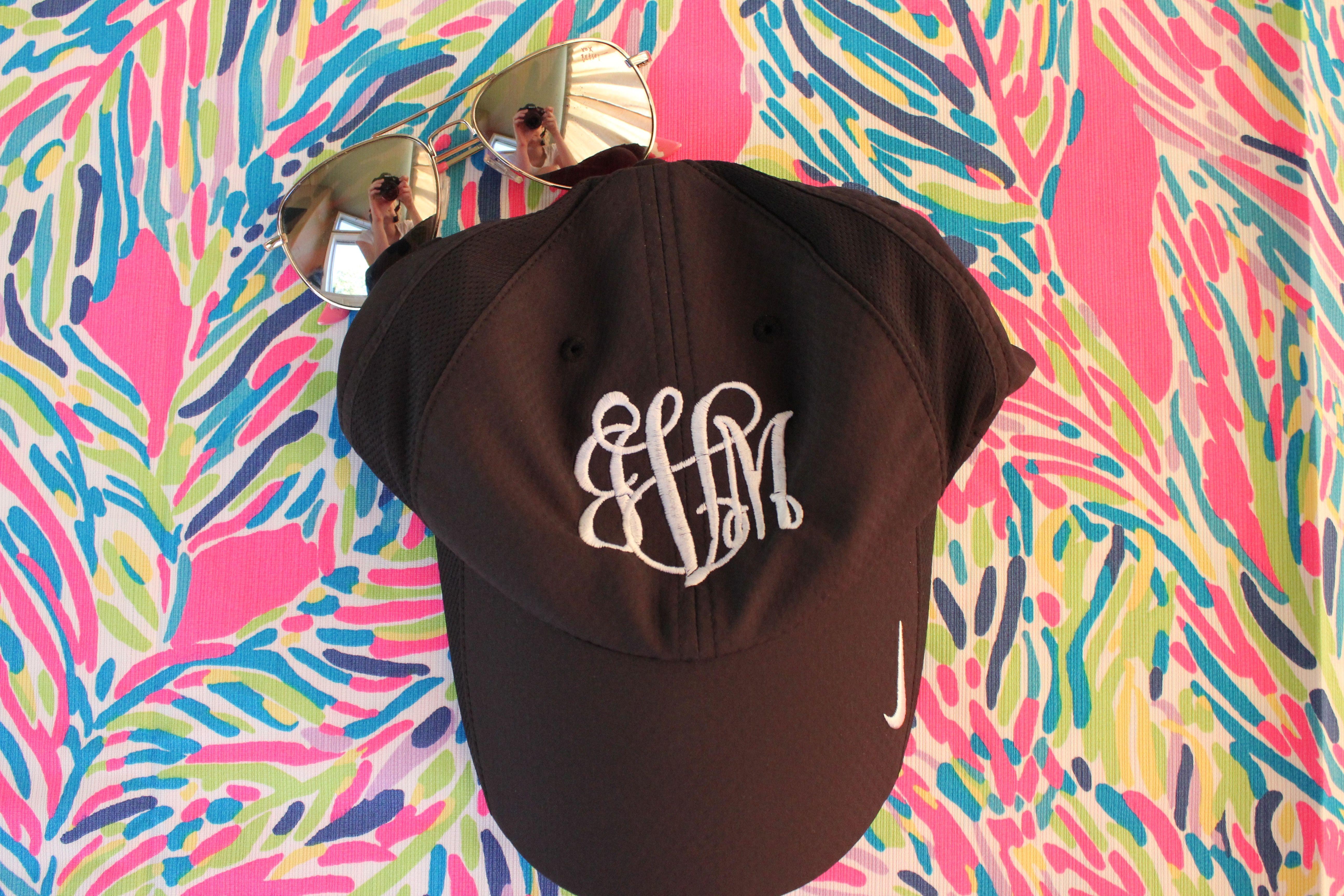 Monogrammed nike dri fit baseball hat baseball hats