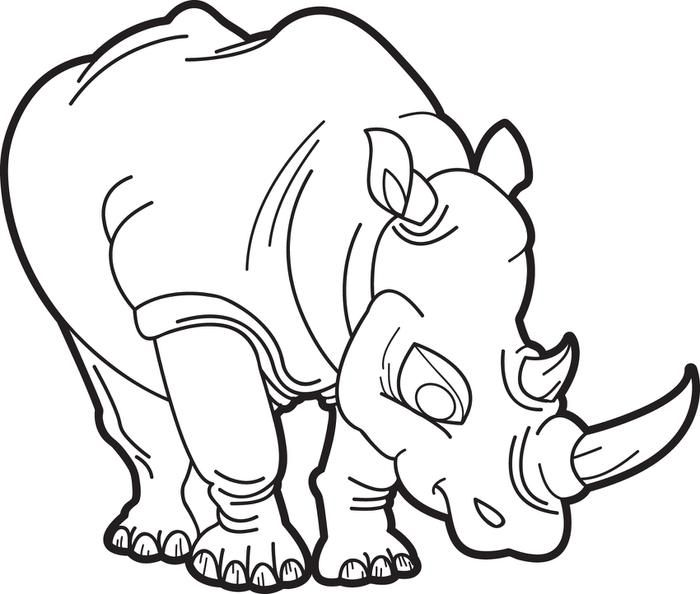 Rhinoceros Coloring Page Coloring Pages Coloring Pages For Kids