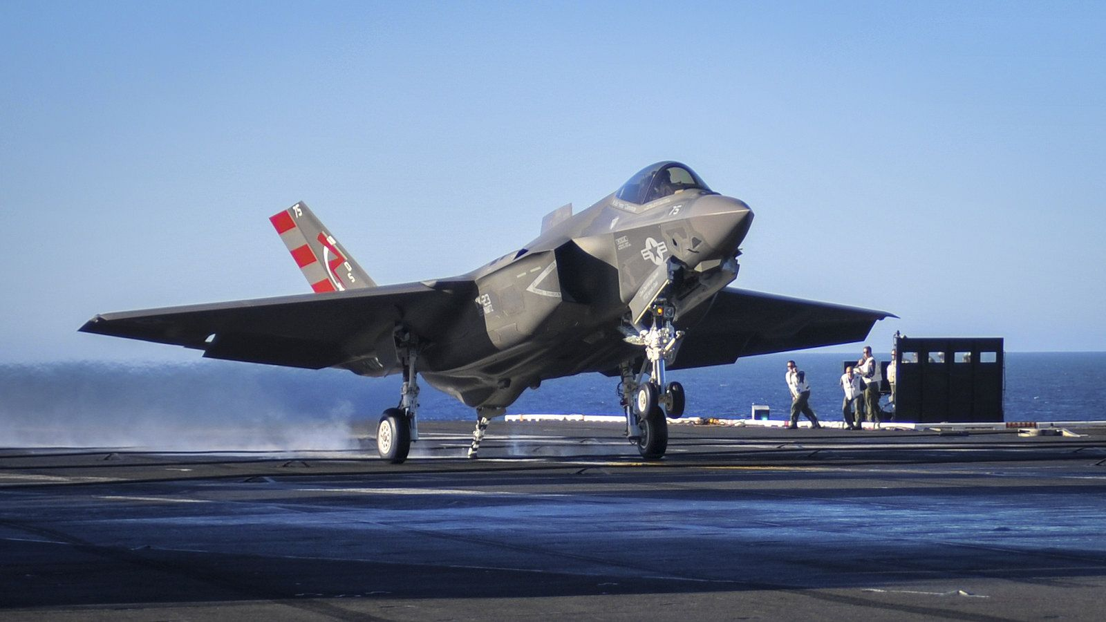 Because the arrestor hook was located too close to the landing gear, the F-35C was originally unable to land on an aircraft carrier.