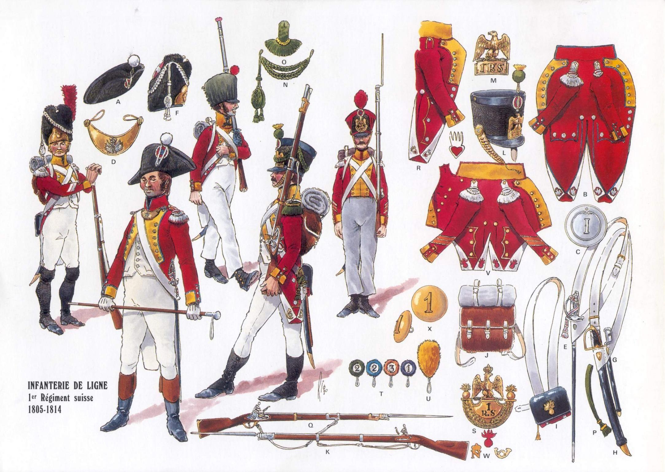 Fanteria del 1 rgt. svizzero al servizio della francia