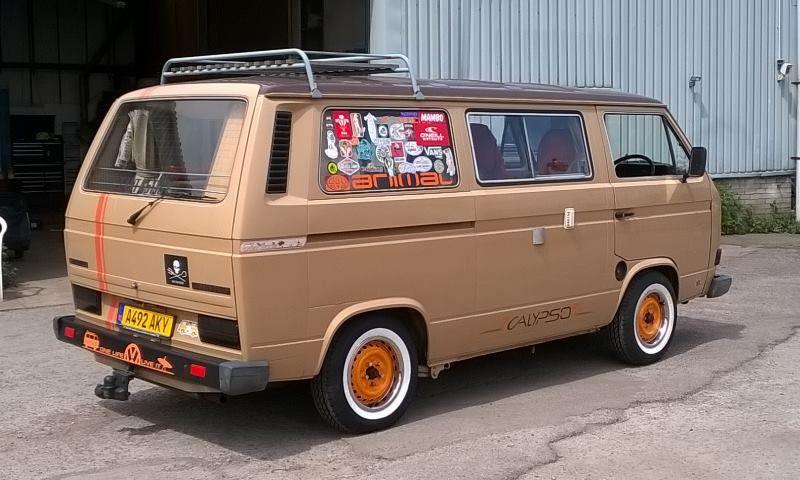 Loving The Steelies And Sticker Bomb Back Window Vw Bus