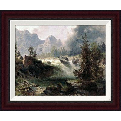 Global Gallery Rocky Mountain Stream by Albert Bierstadt Framed Painting Print Size: