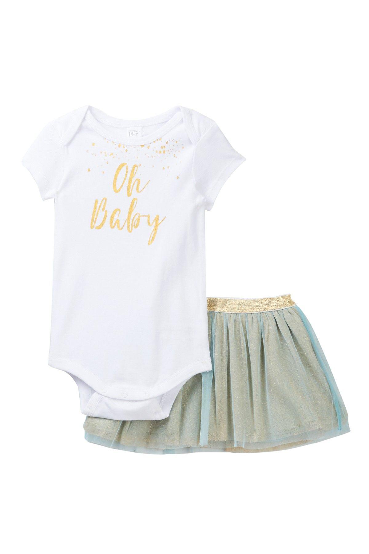 Bodysuit & Tulle Skirt Set Baby Girls