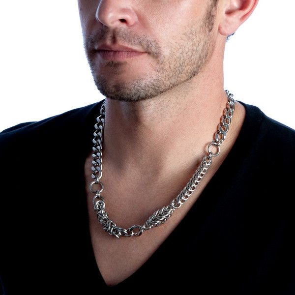 Rapt In Maille | Handmade Chainmaille Jewelry by Melissa Banks | Stainless Steel | Chicago — HIS Mashup Necklace