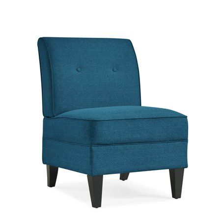 Best Home Armless Chair Handy Living Blue Linens 400 x 300