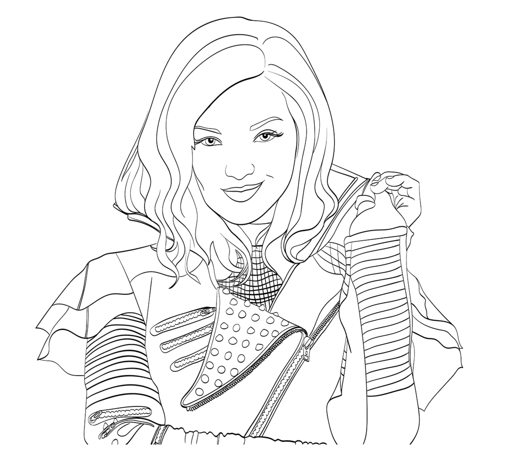 Free The Descendants Coloring Page To Print And Color From The Gallery The Descendants In 2020 Descendants Coloring Pages Disney Coloring Pages Coloring Pages