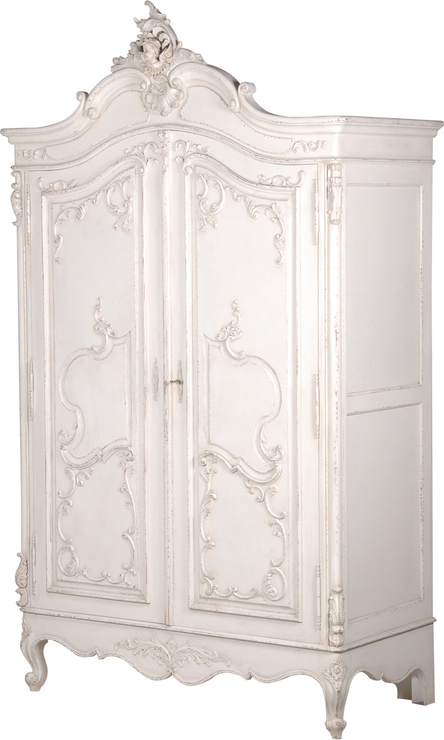 Delphine Distressed Shabby Chic Armoire From The French Bedroom Company