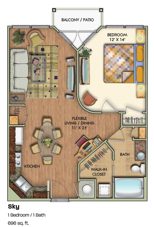 Floorplans Sky Lofts Atlanta Huisplattegronden Huizen
