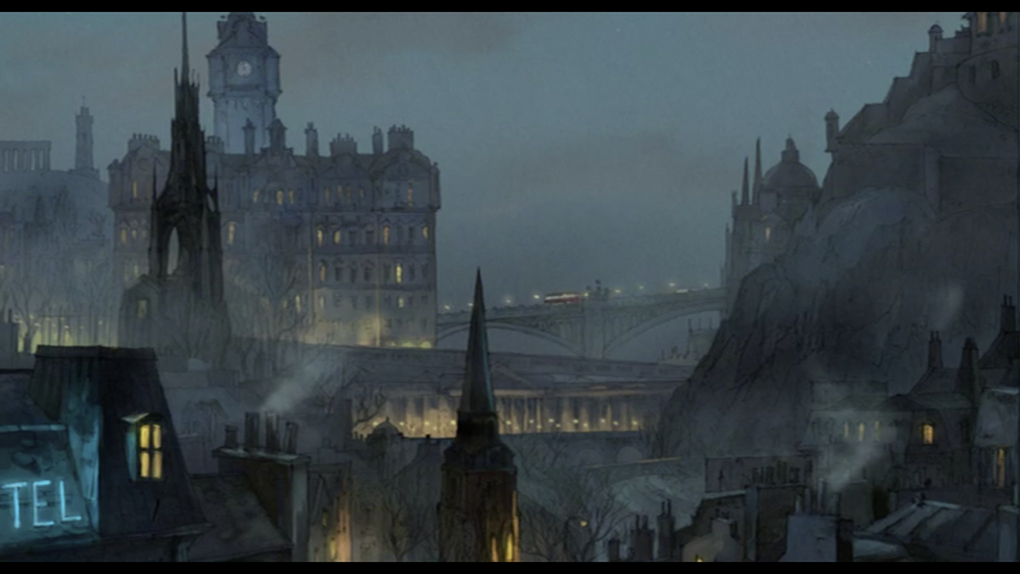 "Edinburgh, Sylvain Chomet, ""The Illusionist"""