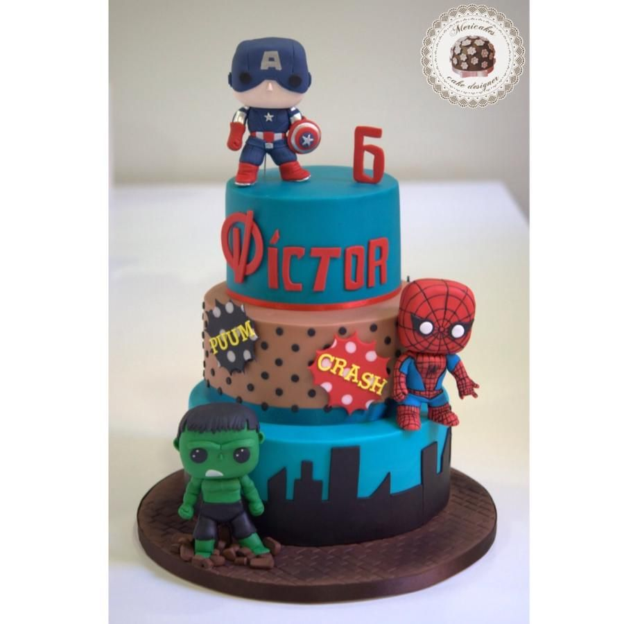 Marvel Funko Pops Cake by Mericakes Cake by Mericakes Pastelera