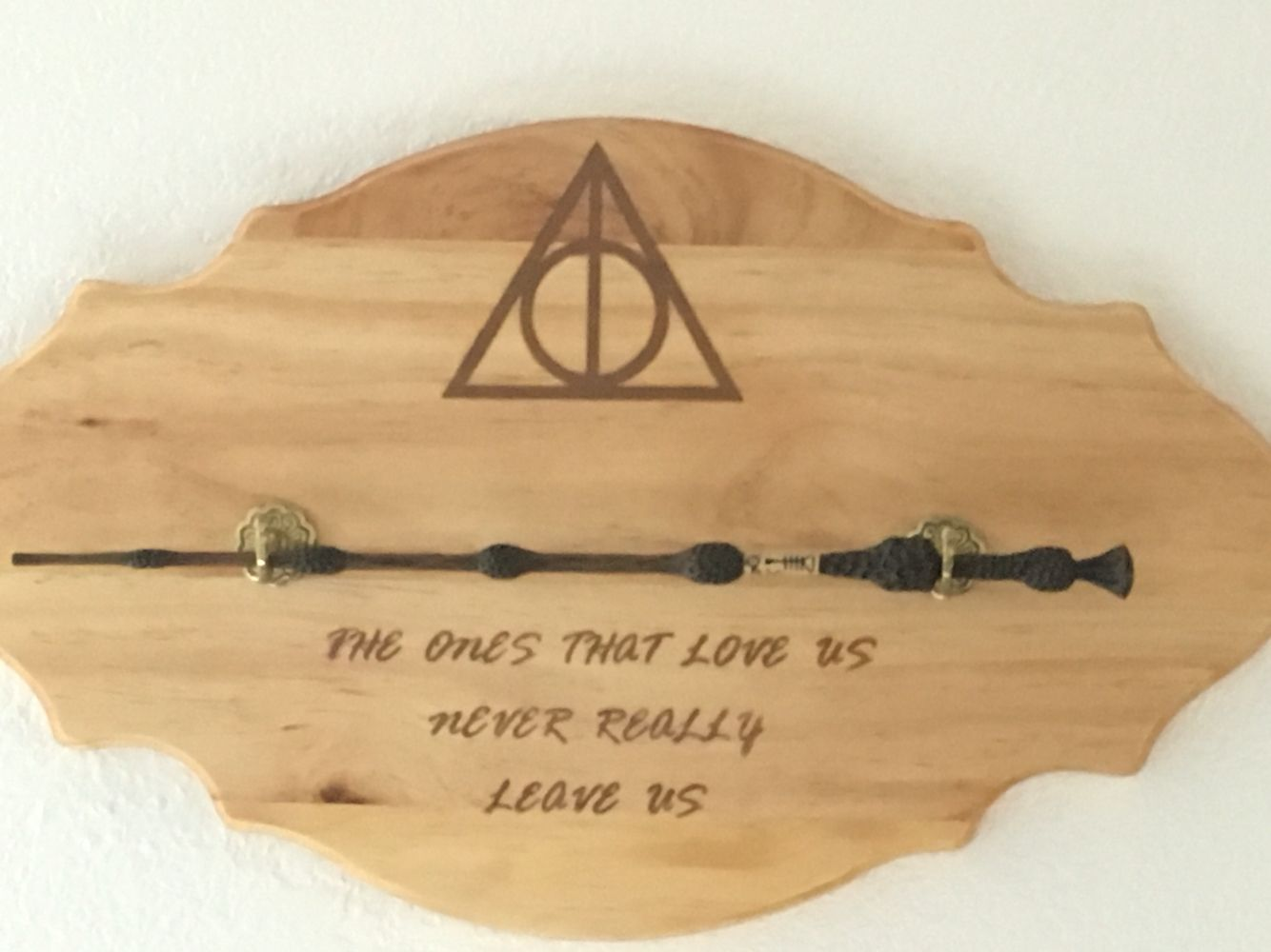 Harry Potter Wand Display The Ones That Love Us Never Really Leave Us Harry Potter Room Decor Harry Potter Bedroom Harry Potter Wand