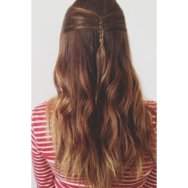 15 Cute French Braid Hairstyles Daily Makeover ❤ liked on Polyvore featuring hair, cabelos and hairstyles