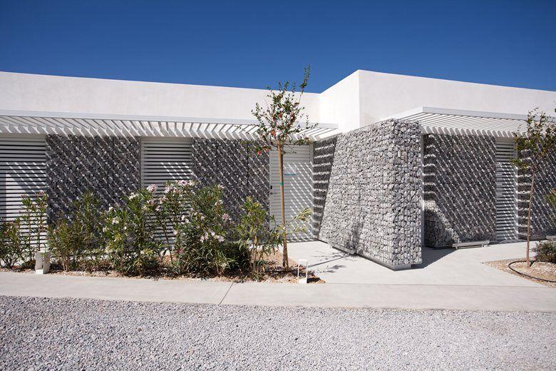 relux ios island hotel exterior wall design