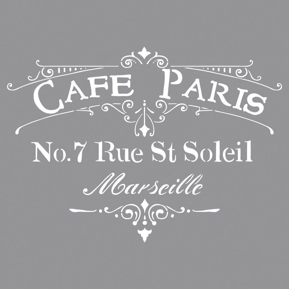 Rayher Stencil per pareti, motivo Cafà© Paris, stampo per ...