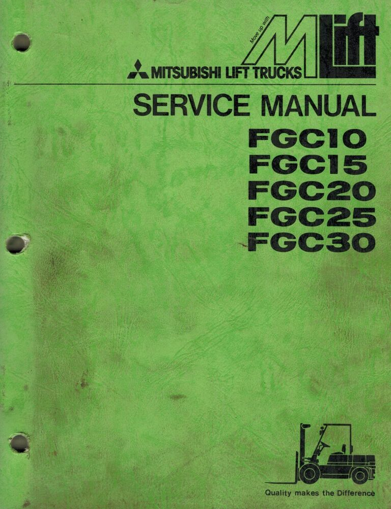 Business & Industrial Mitsubshi Forklift Parts Manual FGC30 Heavy ...