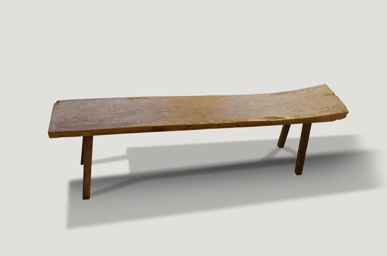 Enjoyable Andrianna Shamaris Wabi Sabi Teak Wood Bench Or Shelf In Uwap Interior Chair Design Uwaporg