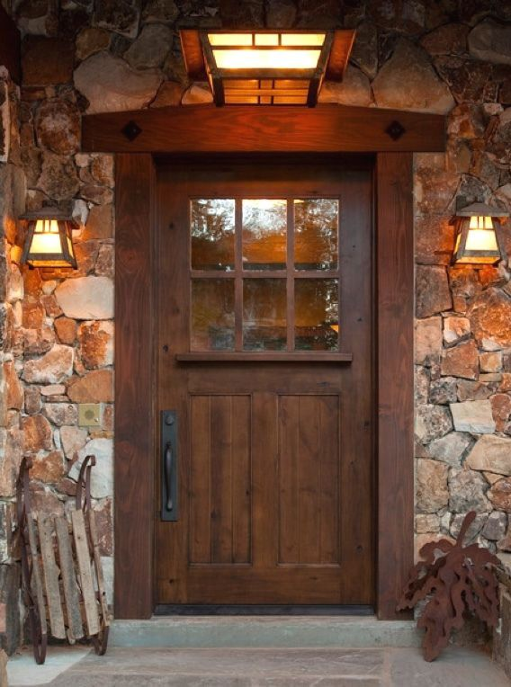 SUNDANCE STYLE CRAFTSMAN KNOTTY ALDER ENTRY DOOR 42\