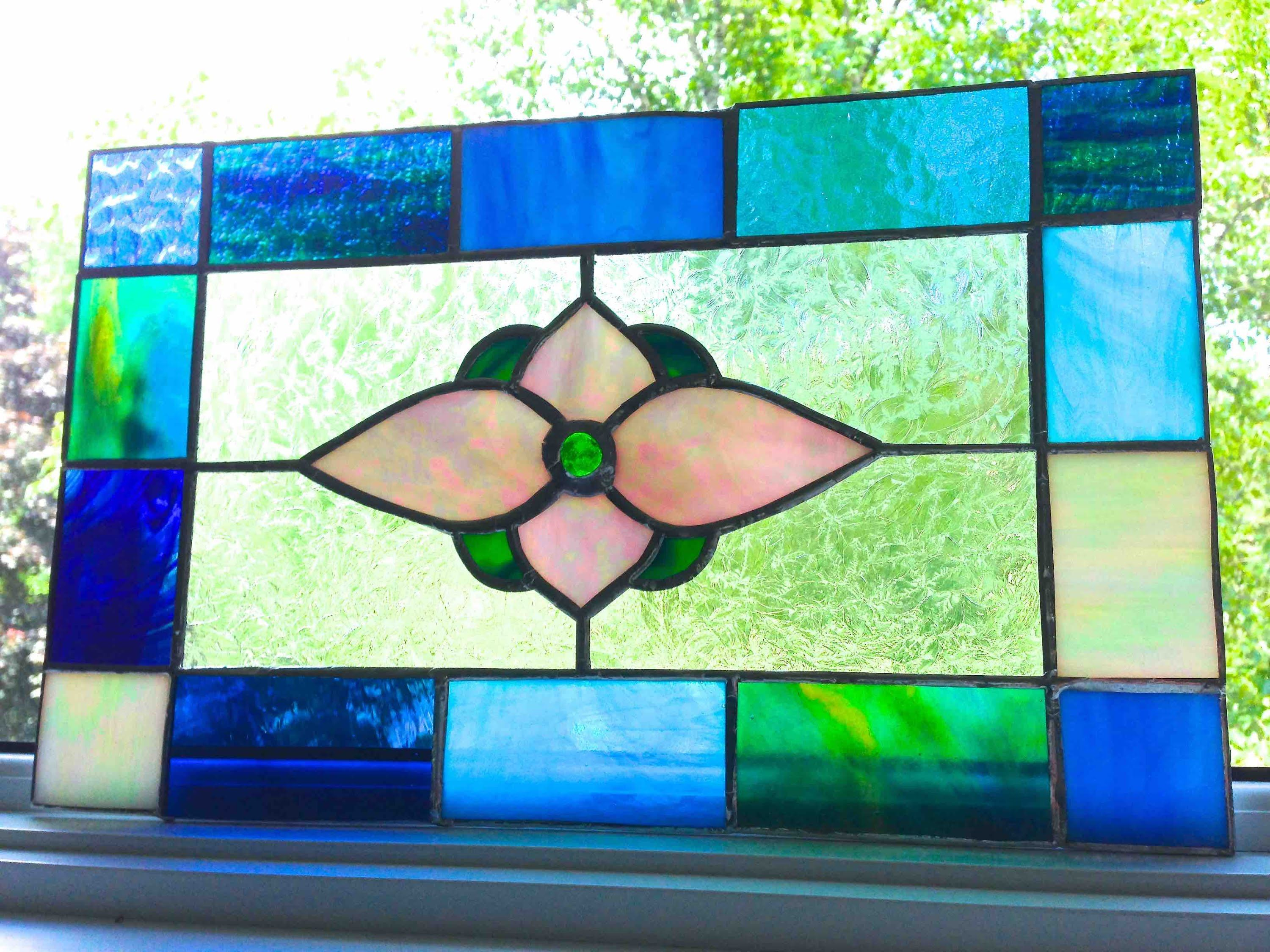How To Make A Stained Glass Window Panel For Beginners Diy