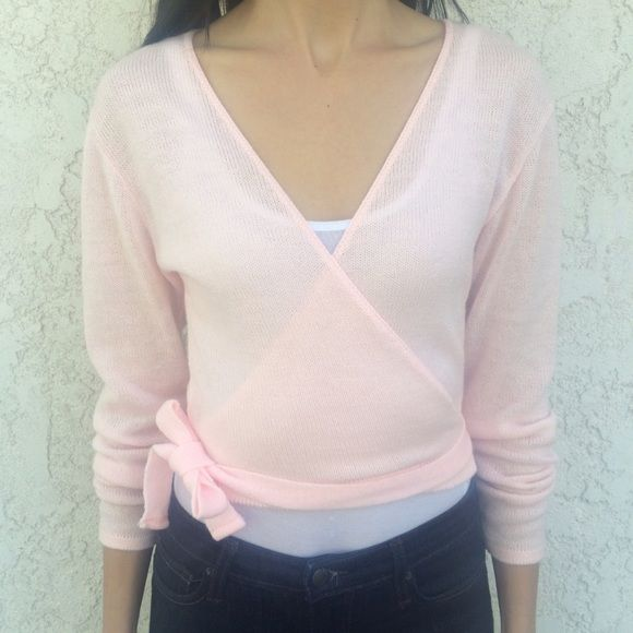 Capezio pink ballerina sweater wrap! Capezio pink ballerina sweater wrap! Size medium. Gently worn and in good condition. Bundle and save! Capezio Sweaters
