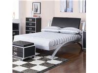Coaster Bedroom Full Bed Metal Platform Bed Black Bedding Full Platform Bed
