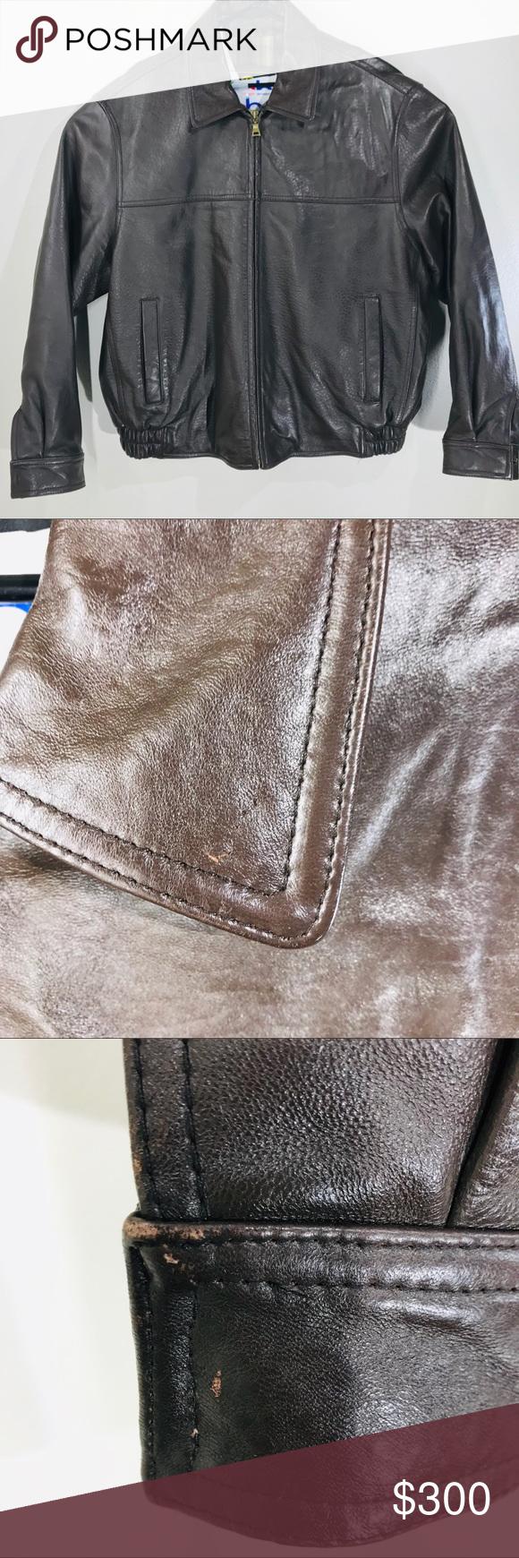 Reed Leather Men S Bomber Jacket Size Xl Leather Jacket Leather Jacket Men Fashion [ 1740 x 580 Pixel ]