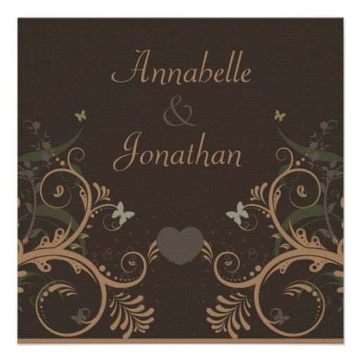 #Butterfly Brown #Floral #Wedding #Announcements by #capturedbyKC on #Zazzle!