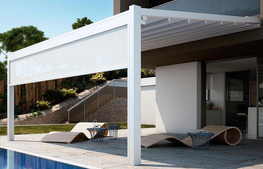 Coperture per terrazzi | Arredo terrazza | Pinterest | Pioggia, Sole ...
