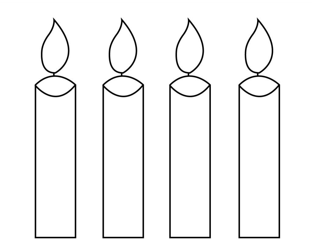 Candle Coloring Page For Your Little Ones Birthday Christmas