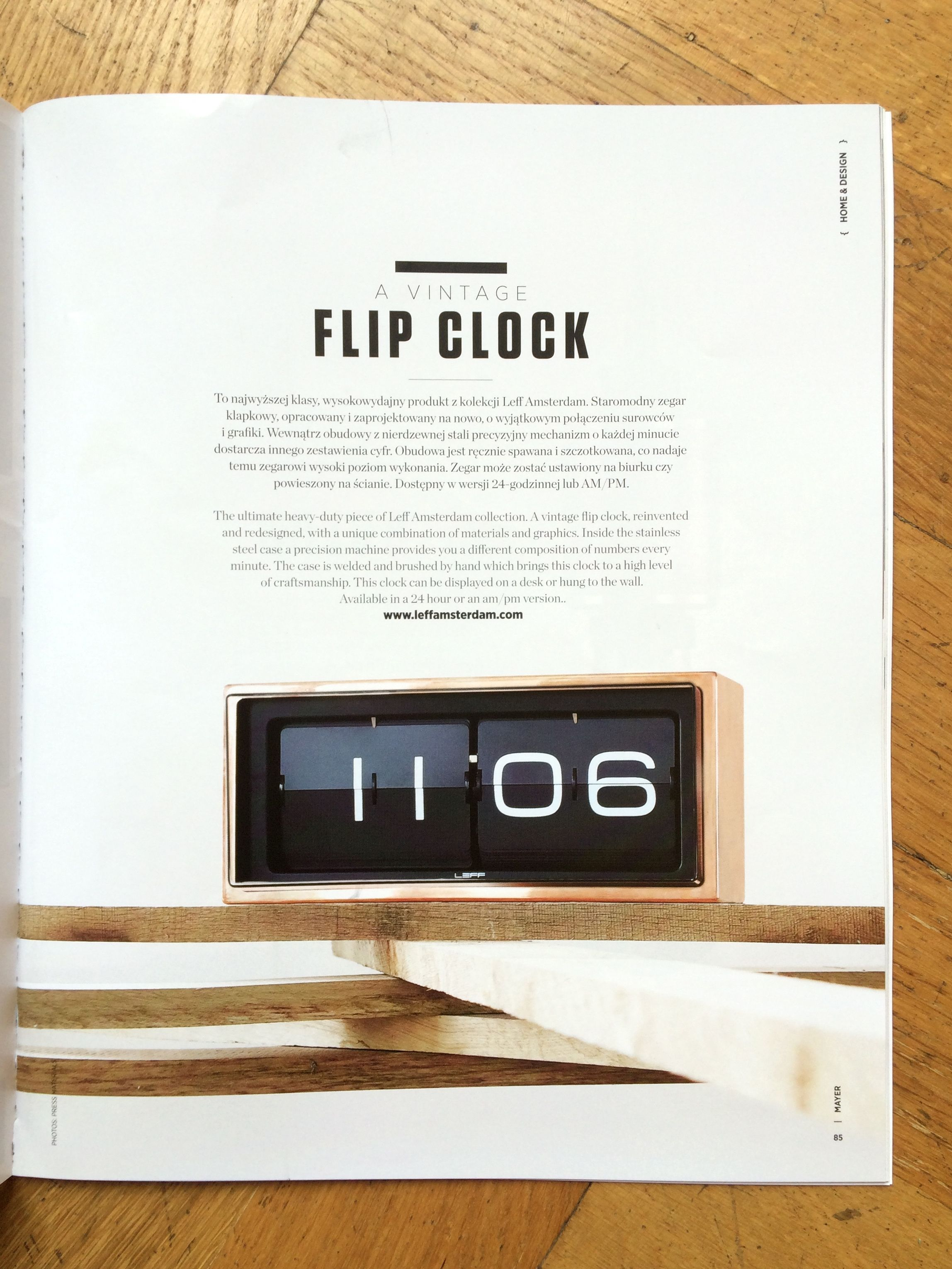 Captivating Copper Brick Flip Clock By Erwin Termaat For LEFF #Amsterdam In MAYER  Magazine.