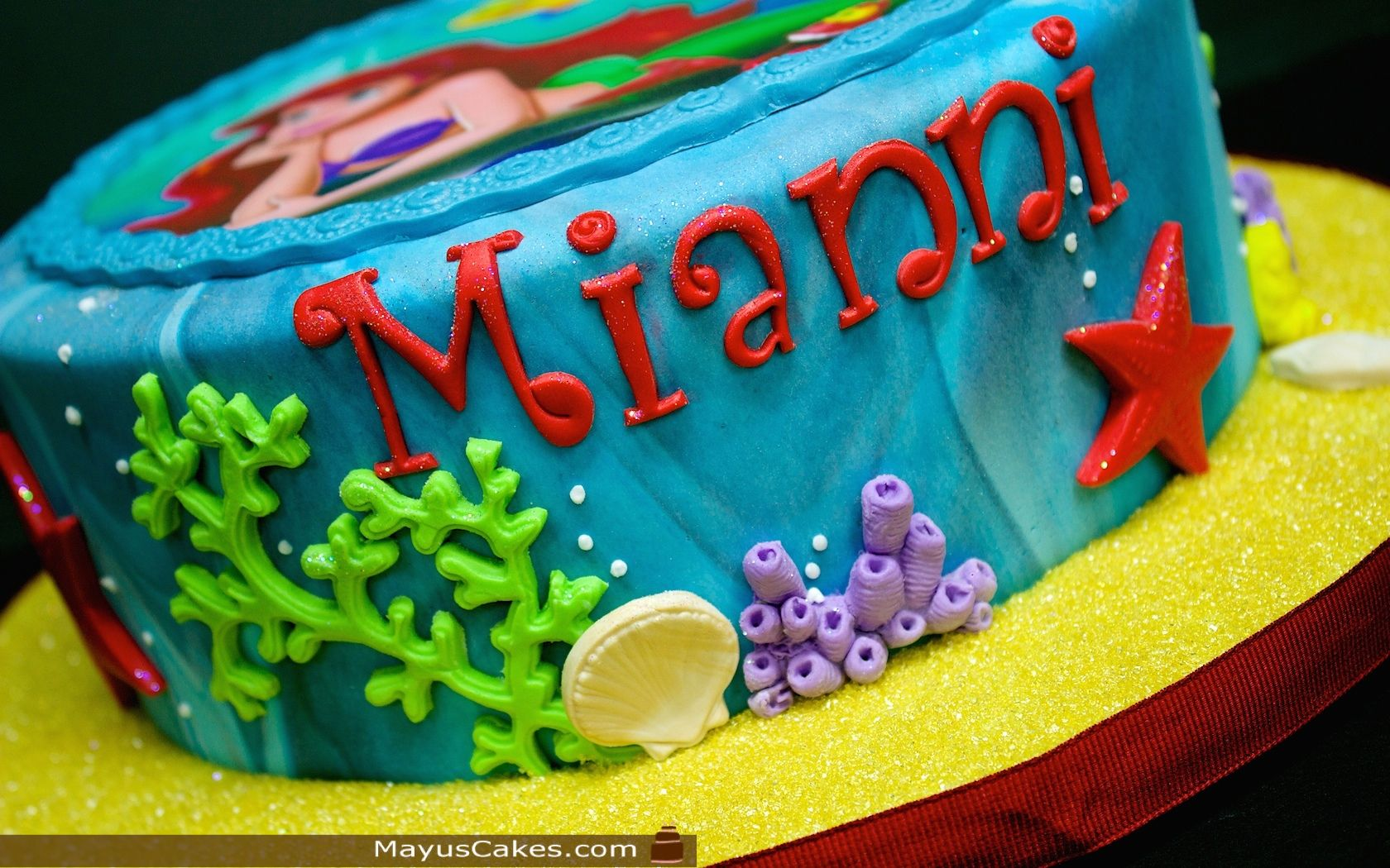 Little mermaid cake disney birthday cakes little