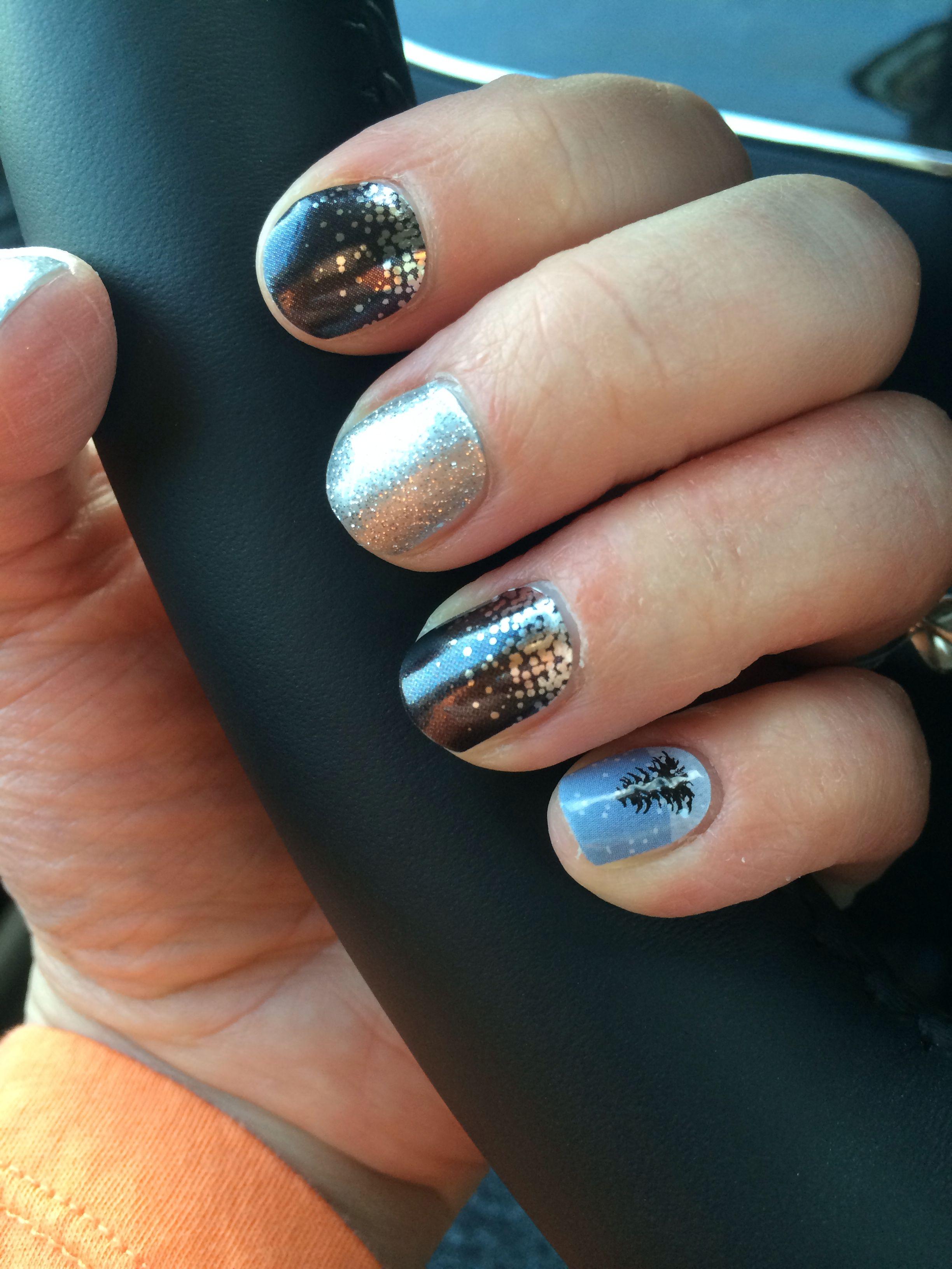 Jamberry Nails -- Midnight Celebration, Diamond Dust Sparkle and ...