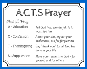 Use a c t s prayer to pray as jesus taught printable for Prayer book template