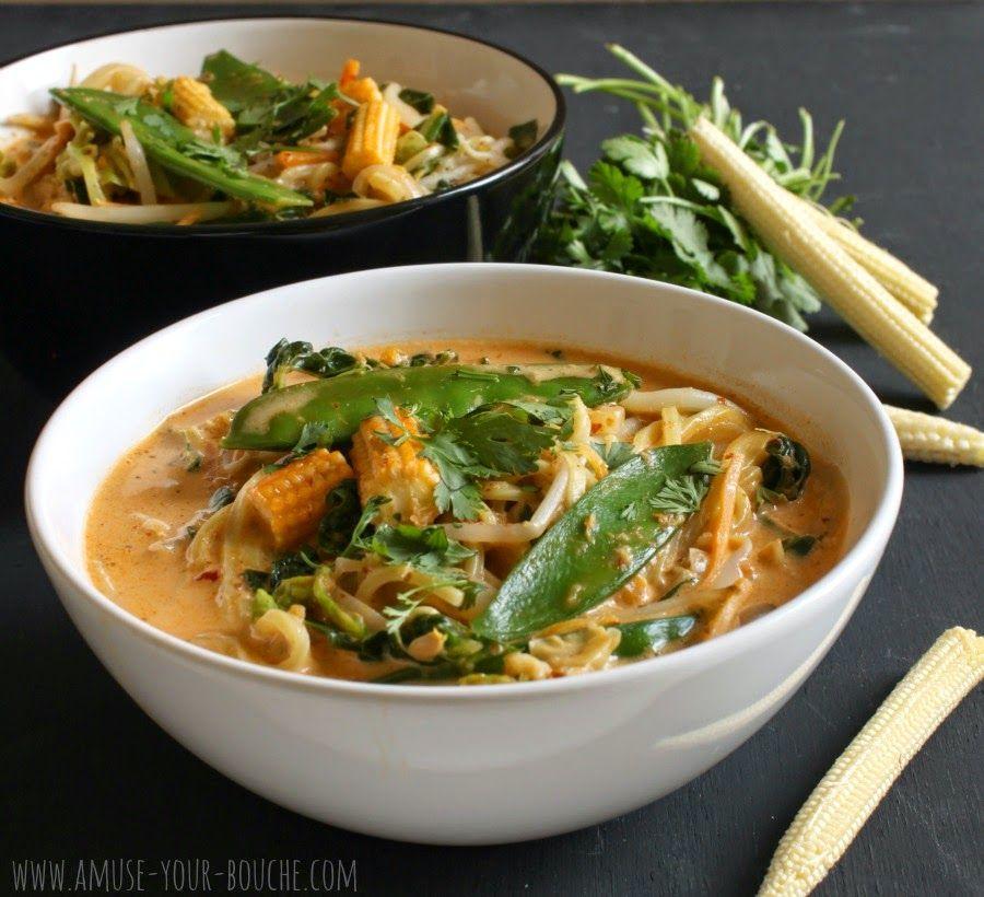 Quick red Thai curry noodle soup #recipes #soup