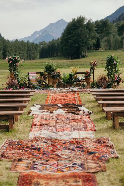 Wow This Is The Most Gorgeous Aisle And Ceremony Set Up I Ve Ever Seen Aspen Wedding Wedding Readings Backyard Wedding