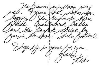 Handwriting analysis of serial killers- Ted Bundy